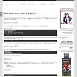 Premier site avec NodeJs et ExpressJs
