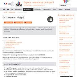 ENT premier degré - Espace numérique de travail