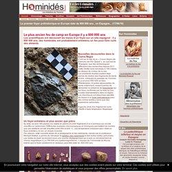 Premier feu préhistorique en Espagne - 800 000 ans