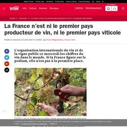 La France n'est ni le premier pays producteur de vin, ni le premier pays viticole