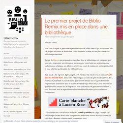 Le premier projet de Biblio Remix mis en place dans une bibliothèque – Biblio Remix