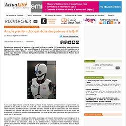 Aria, le premier robot qui récite des poèmes à la BnF
