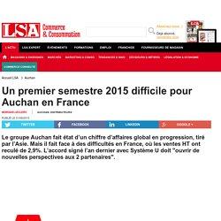 Un premier semestre 2015 difficile pour Auchan...