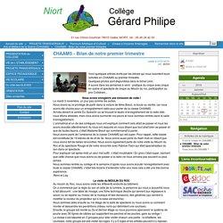 Bilan premier trimestre - CHAAMS Collège Gérard Philipe - Niort