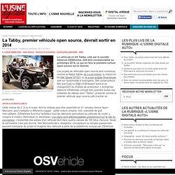 La Tabby, premier véhicule open source, devrait sortir en 2014