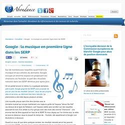 Google : la musique en première ligne dans les SERP