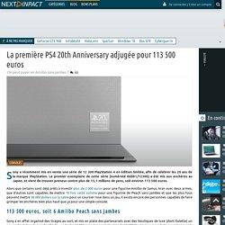 La première PS4 20th Anniversary adjugée pour 113 500 euros