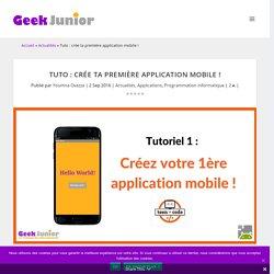 Tuto : crée ta première application mobile