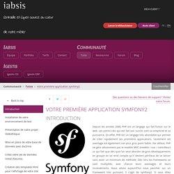 Iabsis - Votre première application symfony2
