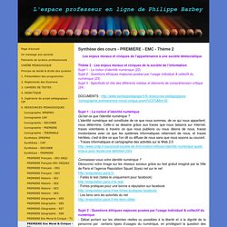 PREMIERE Ens Moral & Civique - T2 - barbeypedagogies jimdo page!