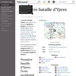 Première bataille d'Ypres - wikipédia