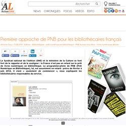 Première approche de PNB pour les bibliothécaires français