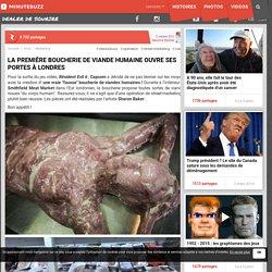 La première boucherie de viande humaine ouvre ses portes à Londres