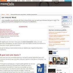 Votre première macro dans Word : conseils et précautions
