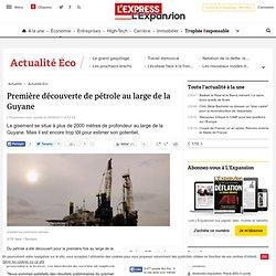 Première découverte de pétrole au large de la Guyane