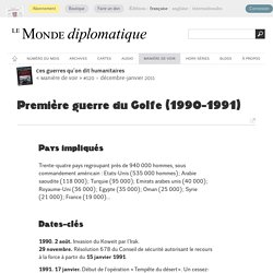 Première guerre du Golfe (1990-1991) (Le Monde diplomatique, décembre 2011)