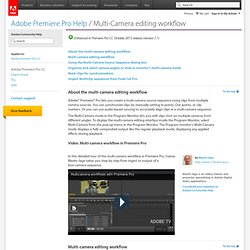Premiere Pro Help | Multi-Camera editing workflow