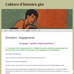 Cahiers d'histoire géo