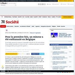 Pour la première fois, un mineur a été euthanasié en Belgique