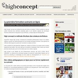 Formation scénario en ligne gratuite HIGH CONCEPT