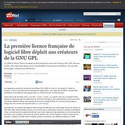 La première licence française de logiciel libre déplaît aux créateurs de la GNU GPL