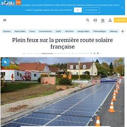 Plein feux sur la première route solaire française - Le Parisien