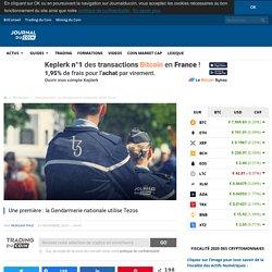 Une première : la Gendarmerie nationale utilise Tezos - Journal du Coin
