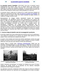 La première guerre mondiale au cinéma