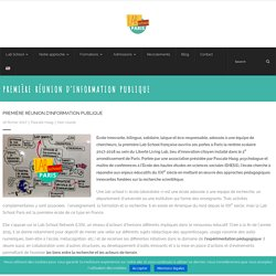 Première réunion d'information publique – Lab School