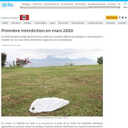Première interdiction en mars 2020