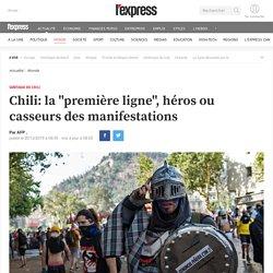 """Chili: la """"première ligne"""", héros ou casseurs des manifestations"""
