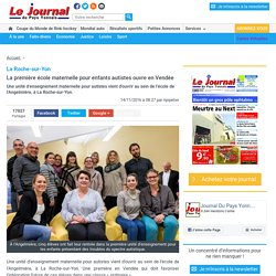 La première école maternelle pour enfants autistes ouvre en Vendée