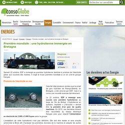 Première mondiale : une hydrolienne immergée en Bretagne