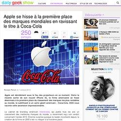 Apple se hisse à la première place des marques mondiales en ravissant le titre à Coca-Cola