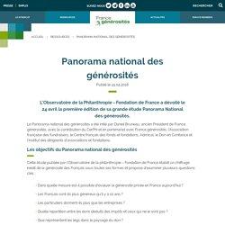 Première édition du Panorama national des générosités