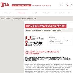"""Première STMG """"Passion Sport"""" - Lycée technologique - Lycée Jeanne d'Arc"""
