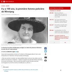 Il y a 100ans, la première femme policière de Winnipeg