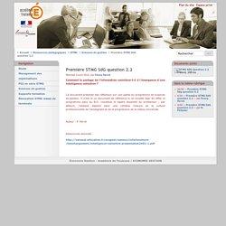 Première STMG SdG question 2.2 - Économie Gestion - Académie de Toulouse