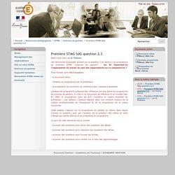 Première STMG SdG question 2.3 - Académie-Toulouse
