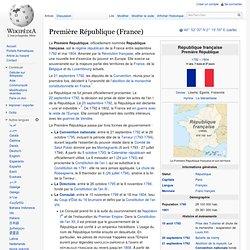 Première République 1792-1804