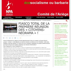 FIASCO TOTAL DE LA PREMIÈRE RÉUNION DES « CITOYENS-NEORAMA » !