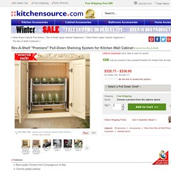 """Rev-A-Shelf """"Premiere"""" Pull-Down Shelving System for Kitchen Wall Cabinet"""