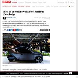 Voici la première voiture électrique 100% belge - Auto