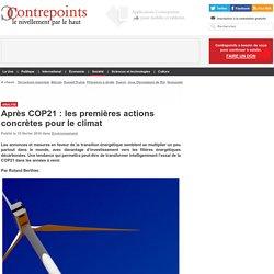 Après COP21 : les premières actions concrètes pour le climat