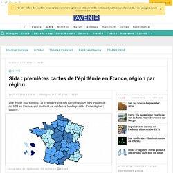 Sida : premières cartes de l'épidémie en France, région par région