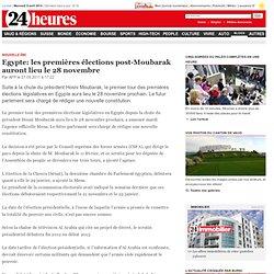 Egypte: les premières élections post-Moubarak auront lieu le 28 novembre