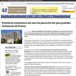 Observatoire des inégalités - Taux de pauvreté, communes France