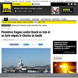 Premières frappes contre Daech en Irak et en Syrie depuis le Charles de Gaulle