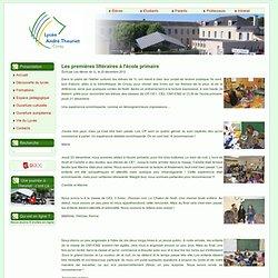 Les premières littéraires à l'école primaire ! - Atelier culturel des 1L - Lycée A Theuriet