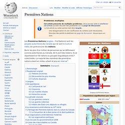 Amérindiens au Canada